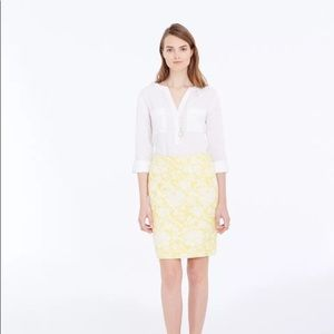 Ann Taylor Magnolia Floral Jacquard Pencil Skirt